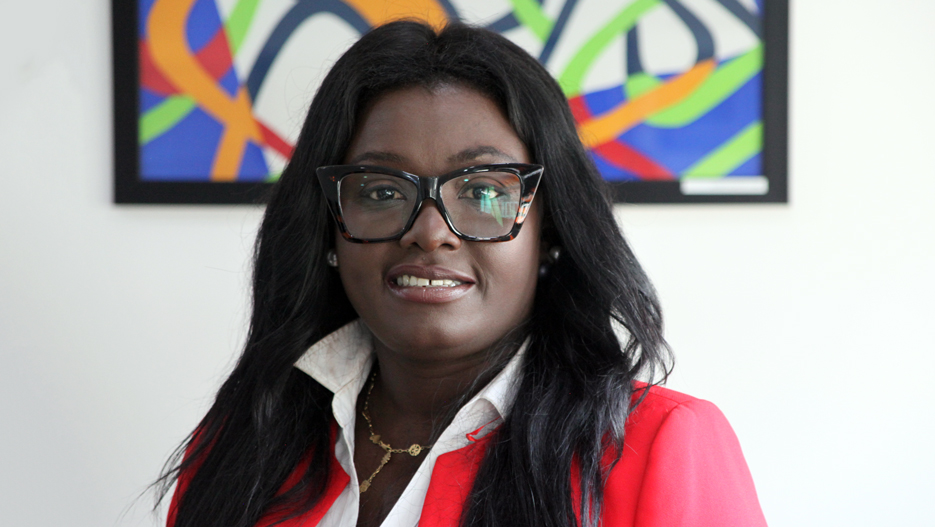 Mabel Porbley, Managing Director of Saham Insurance Ghana