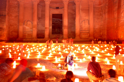 Petra-by-Night-with-People