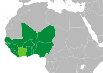 ECOWAS members, including Ivory Coast (Cote d`Ivoire)