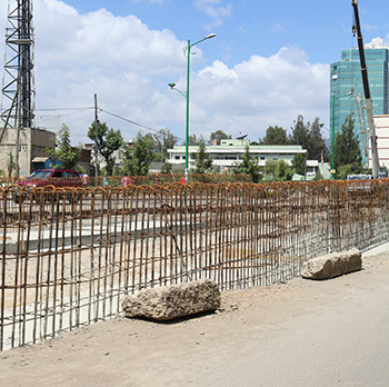 Construction works, Ethiopia