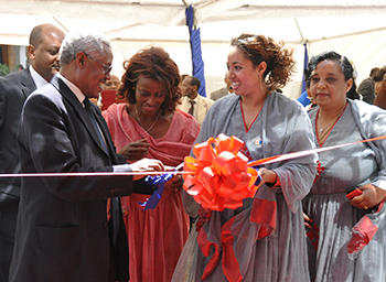 Enat Bank branch opening by the Minister of Industry of Ethiopia