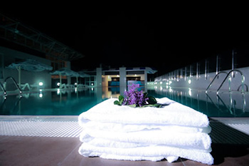 Intercontinental Addis rooftop swimming pool