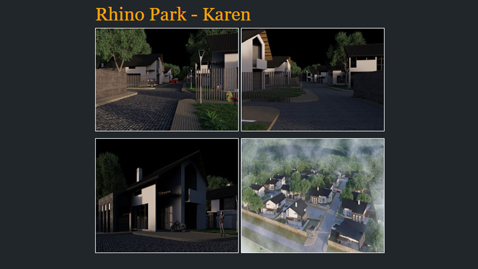 Rhino Park: 4 bedroom villas in a gated comunity located in Karen