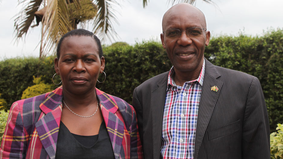 Eric Kimani and Margaret Munene, General Managers of Palmhouse Dairies