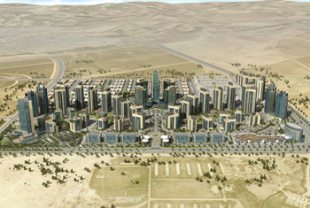 Empire World project in Erbil from higher perspective