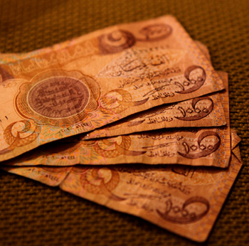 Iraqi Dinars - currency in Iraq and Kurdistan