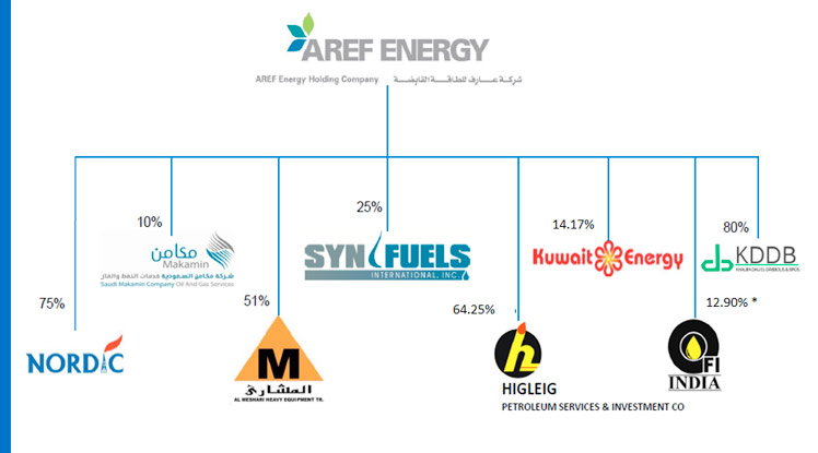 AREF Energy Subsidiaries, Associates & Investments