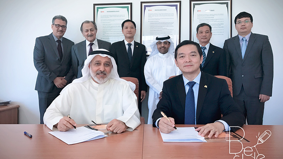 Reinforcing Kuwait's Construction Sector: HOT Engineering Signed an Agency Agreement with Vietnam's HOA BINH