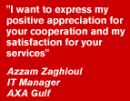 Appreciation of BML Istisharat