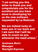 Thank you letter to BML Istisharat