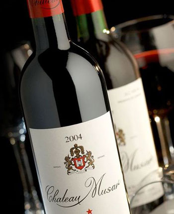 Wine Bottle of Chateau Musar