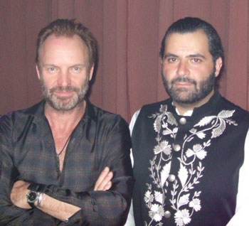 Michel Elefteriades and Sting