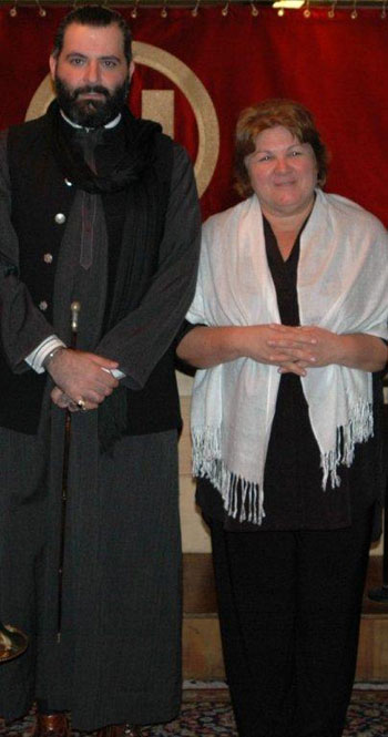 Michel Elefteriades and Aleida Guevara