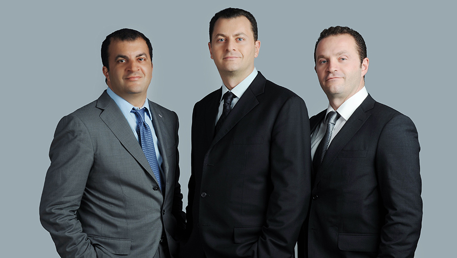 Fred Mouawad, Pascal Mouawad and Alain Mouawad of Mouawad Group