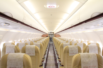 Libyan Airlines aircraft interior