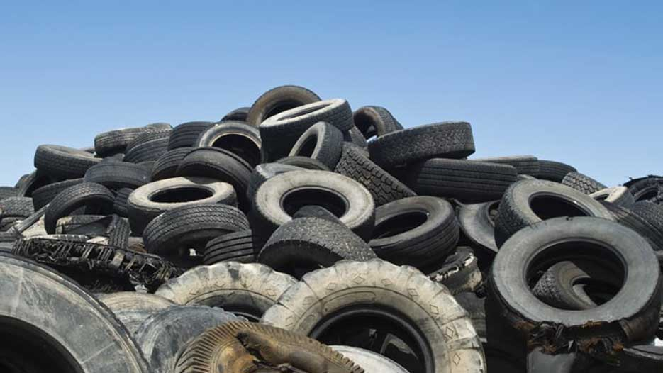 The company has a mechanical-chemical process that produces reusable raw material from old tyres.