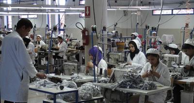 Moroccan textile factory
