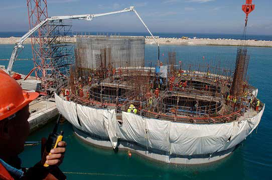 Construction of Tanger Med Morocco