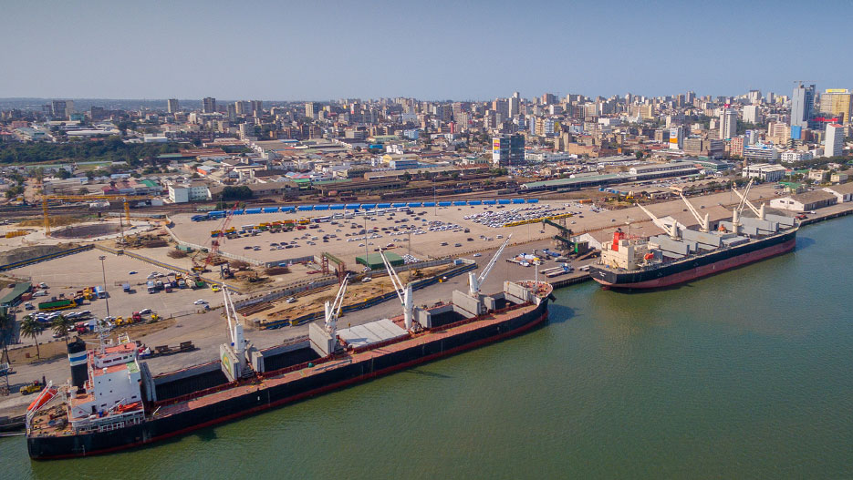 A view of the Port of Maputo